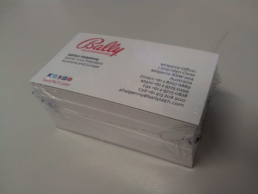 Packaged business cards