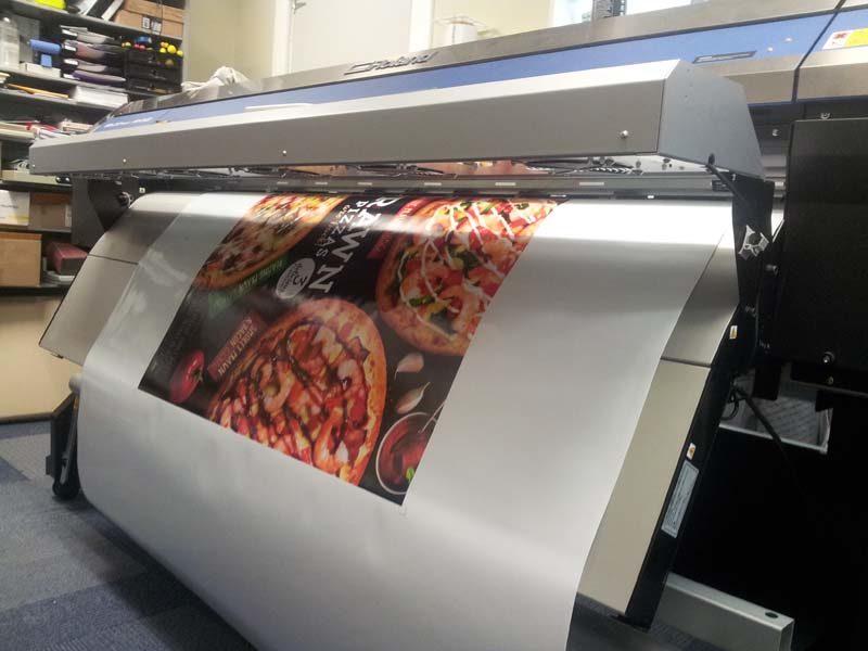 Large self adhesive print