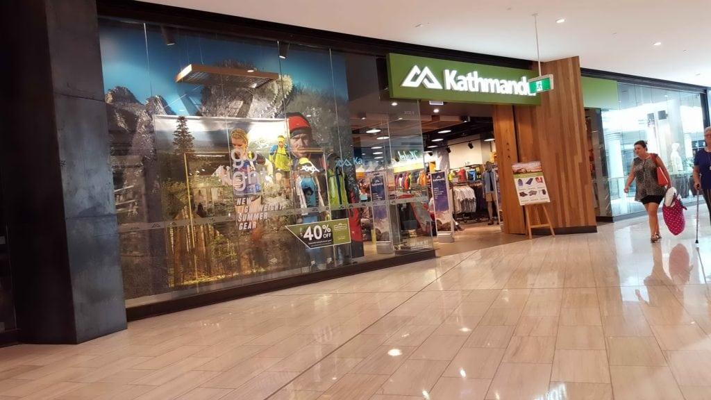 Kathmandu Shopfront Miranda November 2016