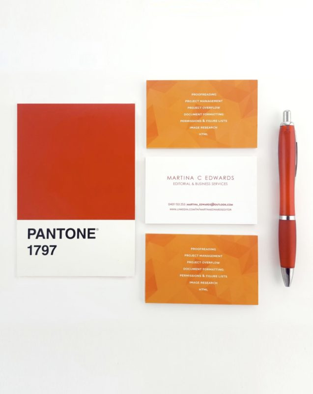 Red & Orange business cards