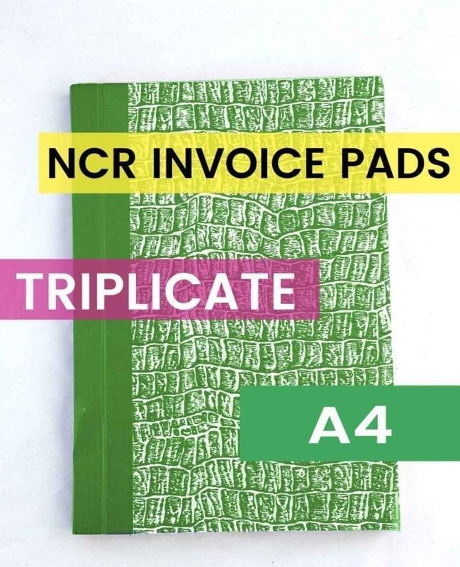 a4 triplicate ncr invoice
