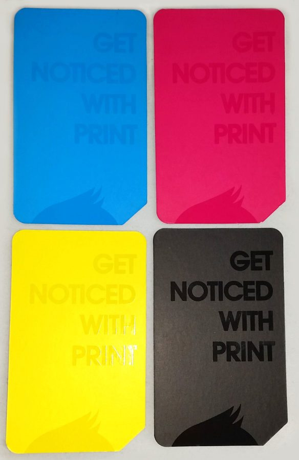 CMYK business cards with spot gloss